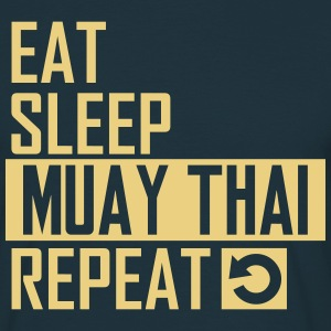 eat sleep muay thai T-Shirts - Männer T-Shirt