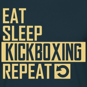 eat sleep kickboxing T-Shirts - Männer T-Shirt