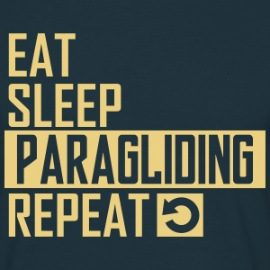 eat sleep paragliding T-Shirts - Männer T-Shirt