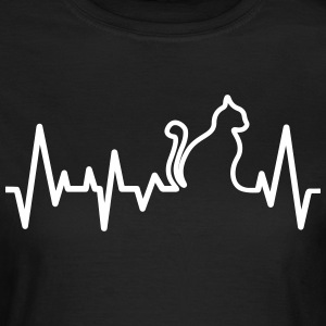 Cat Heartbeat Line T-Shirts - Women's T-Shirt