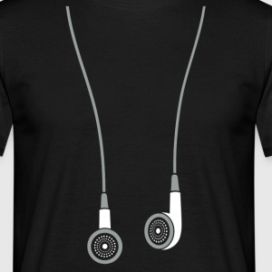 Earphone T-Shirts - Men's T-Shirt