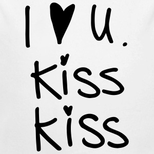 I love you kiss kiss Baby Bodys - Baby Bio-Langarm-Body