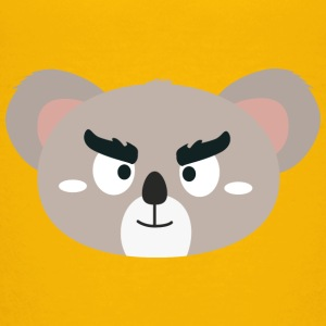 Angry Koala head Shirts - Teenage Premium T-Shirt