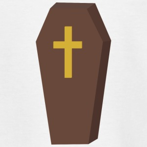Halloween coffin cross Shirts - Teenage T-shirt