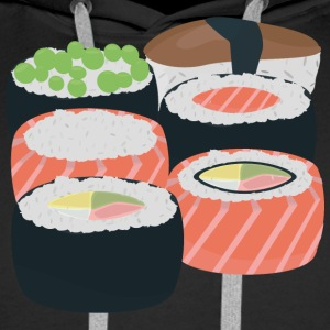 Number of different Sushi rolls Hoodies & Sweatshirts - Men's Premium Hoodie