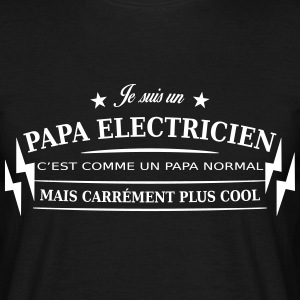 papa electricien Tee shirts - T-shirt Homme