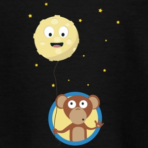 Monkey with friendly moon on a rope Shirts - Teenage T-shirt