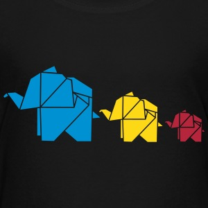 Origami, elephant, elefant, family, animal, cute Tee shirts - T-shirt Premium Ado