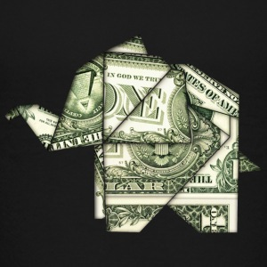 Origami, elephant, elefant, dollar, bill, usa, fun Shirts - Teenage Premium T-Shirt