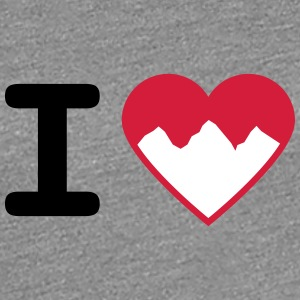 I Love Mountains T-Shirts - Frauen Premium T-Shirt