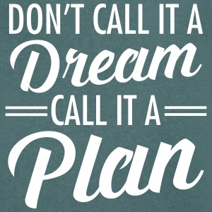 Dream Plan T-shirts - Mannen T-shirt met V-hals
