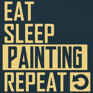 eat sleep painting T-Shirts - Männer T-Shirt