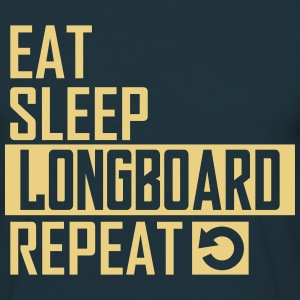 eat sleep longboard T-Shirts - Männer T-Shirt