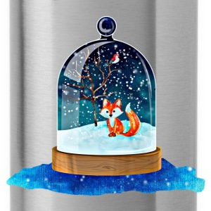 Silver Christmas fox Mugs & Drinkware - Water Bottle