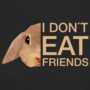 I don't eat friends! Mit coolem Hasen  - Frauen Bio-T-Shirt
