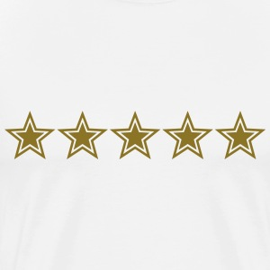 5 Stars, Gold, Best, Club, Team, Member, Sports T-skjorter - Premium T-skjorte for menn