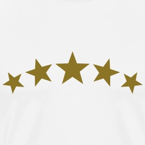 5 Stars, Gold, Best, Winner, Champion, Team, five  - Herre premium T-shirt