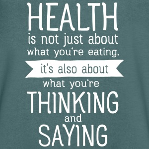 Health is also thinking and talking T-shirts - Mannen T-shirt met V-hals