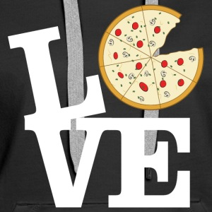 Love Pizza Gensere - Premium hettegenser for kvinner