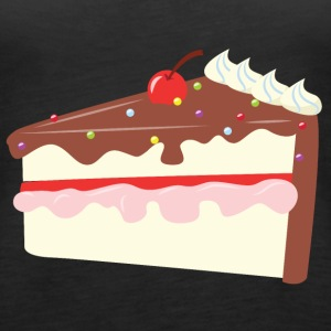 Cherry Chocolate Cake Topper - Premium singlet for kvinner