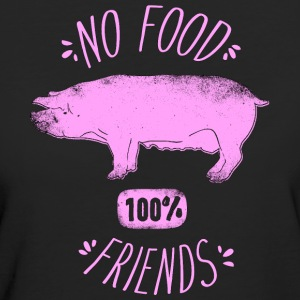 No Food - 100% Friends - Frauen Bio-T-Shirt