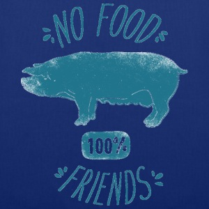 No Food - 100% Friends - Toller Beutel - Stoffbeutel