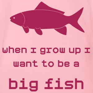 When I grow up I want to be a big Fish - Organic Short-sleeved Baby Bodysuit