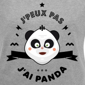 j'peux pas j'ai panda - Women's T-shirt with rolled up sleeves