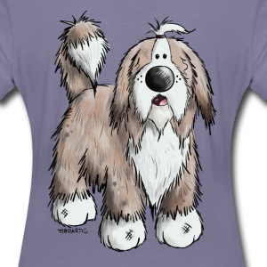Bearded Collie T-shirts - Premium-T-shirt dam