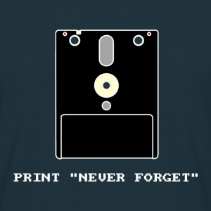 Never Forget 3 Floppy Disc - T-shirt Homme