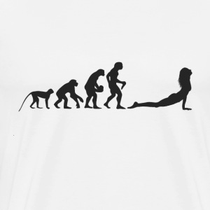 Evolution Yoga T-shirts - Herre premium T-shirt