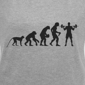 Evolution Fitness T-Shirts - Women's T-shirt with rolled up sleeves