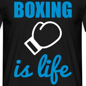 Boxing is life  T-shirts - Mannen T-shirt