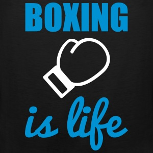 Boxing is life  Sportkleding - Mannen Premium tank top