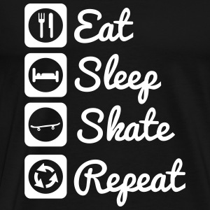 Eat sleep skate Skateboarding T-shirts - Premium-T-shirt herr