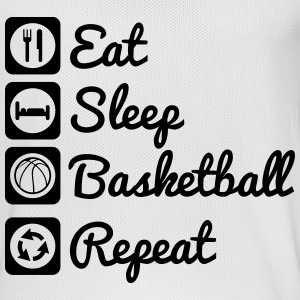 Eat sleep basketball Sportbekleidung - Männer Basketball-Trikot