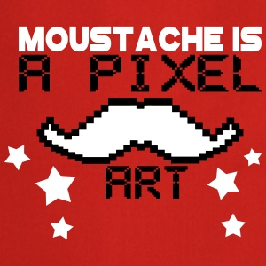 moustache is a pixel art Tabliers - Tablier de cuisine