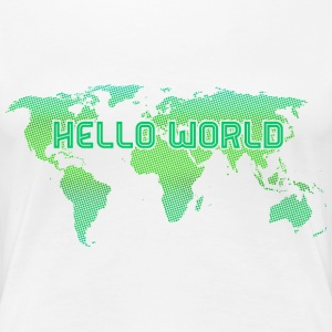 Hello World - Green - Frauen Premium T-Shirt