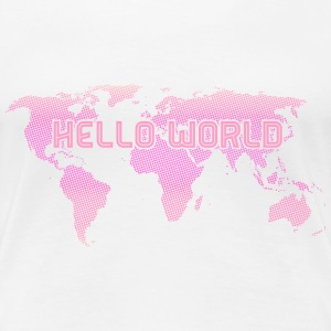Hello World - Pink - Frauen Premium T-Shirt