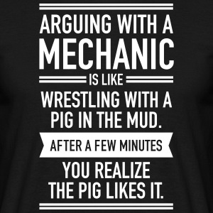 Arguing With A Mechanic... T-shirts - Herre-T-shirt
