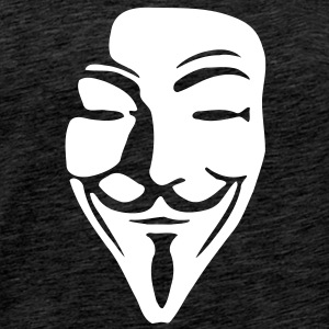Guy Fawkes Mask for dark shirts - Männer Premium T-Shirt