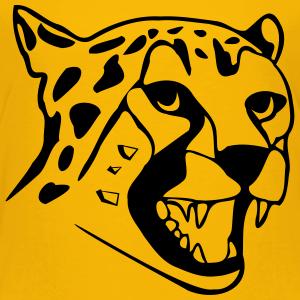 "Shirts mit Tier-Motiv ""Leopard Gepard Kopf"""