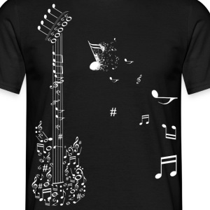 Guitar in notes - Men's T-Shirt