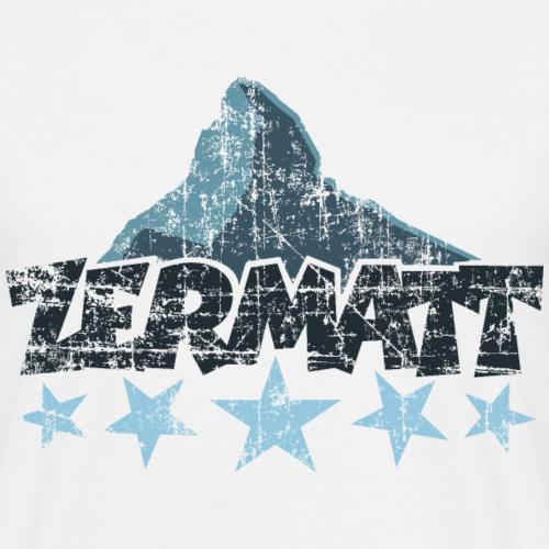 Zermatt Matterhorn 5 Sterne Vintage Dunkel