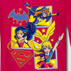DC Super Hero Girls Batgirl Wonder Woman Supergirl - Långärmad premium-T-shirt tonåring