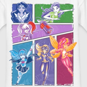 DC Super Hero Girls Collage Of Heroines - T-shirt barn