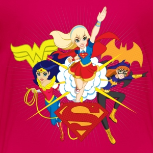 DC Super Hero Girls Batgirl Wonder Woman Supergirl - Kinderen Premium T-shirt