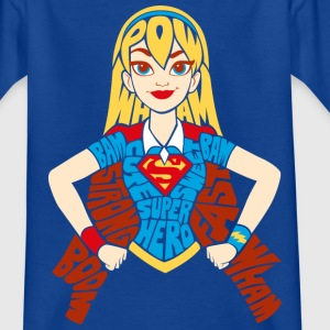 DC Super Hero Girls Supergirl Typography - T-shirt barn