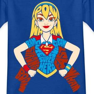 DC Super Hero Girls Supergirl Typographie - T-shirt Enfant