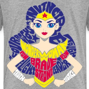 DC Super Hero Girls Wonder Woman Typography - Premium-T-shirt barn
